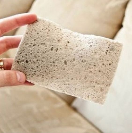 Cleaning fatty stains, sponge