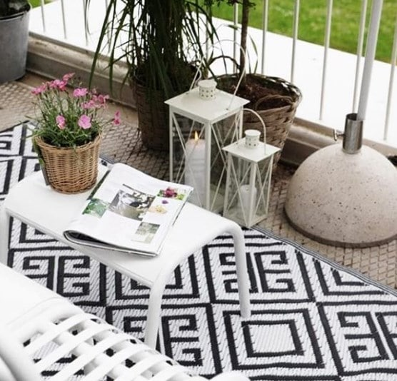 balcony decor rugs