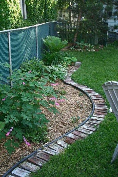 brick borders garden decor