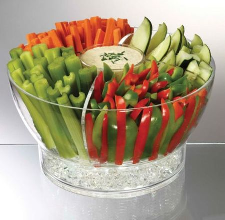 fresh veggies party table deco