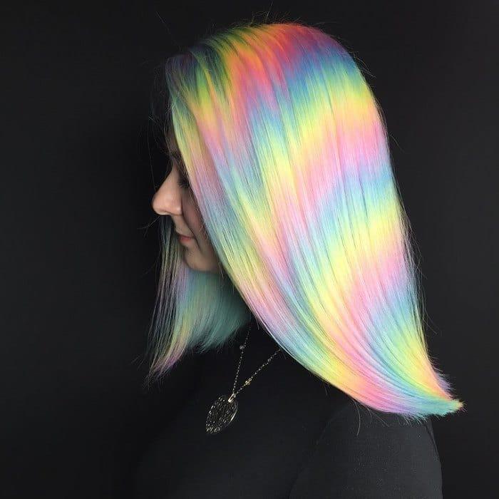 hair color rainbow beezzly