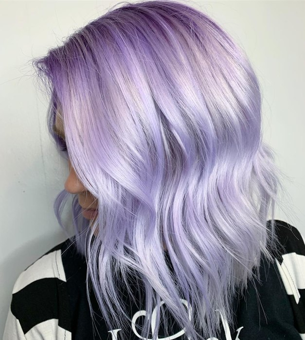hair coloring purple dye