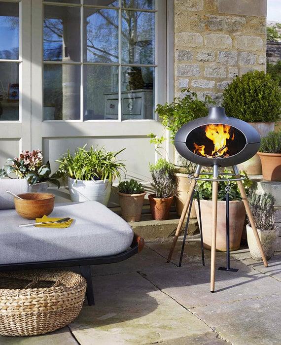 living fire summer decoration ideas