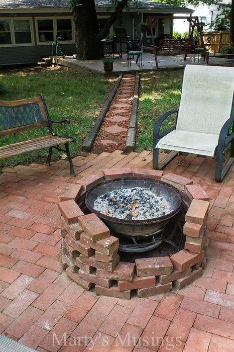 old brick pit bbq idea
