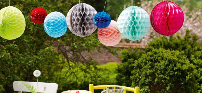 paper decor baloons