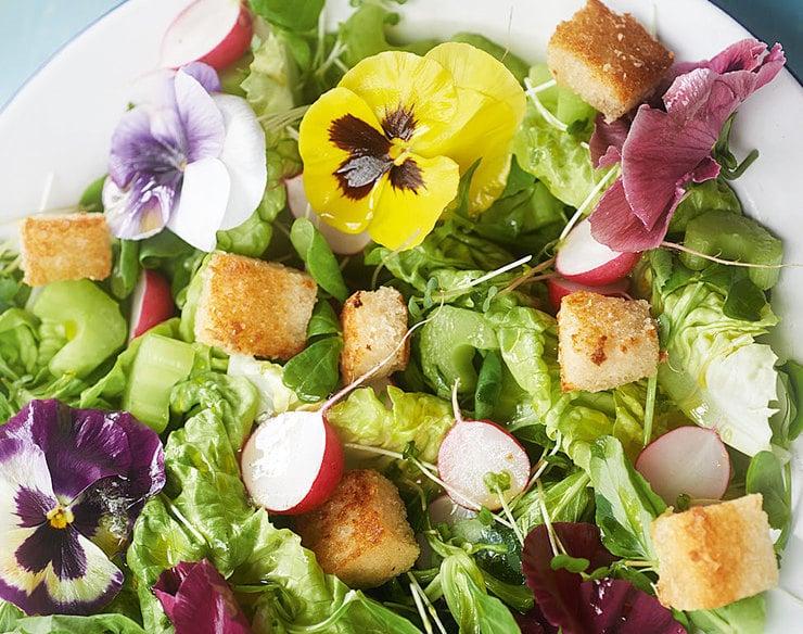 summer flower salad