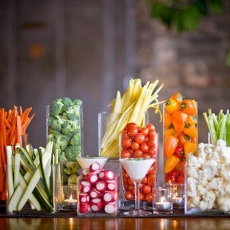 veggie buffet party