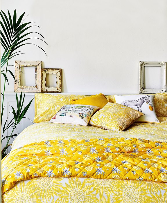 yellow bed improvement ideas beezzly