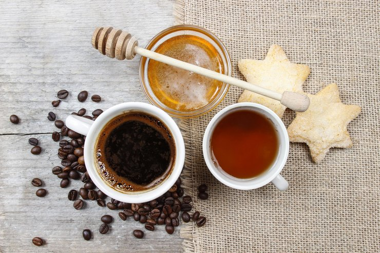 honey and coffee photo