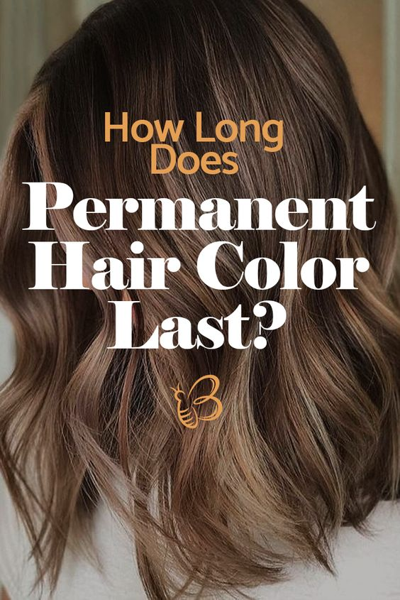 permanent hair color last