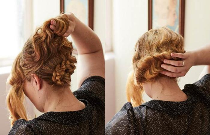 girl with red hair faux bob