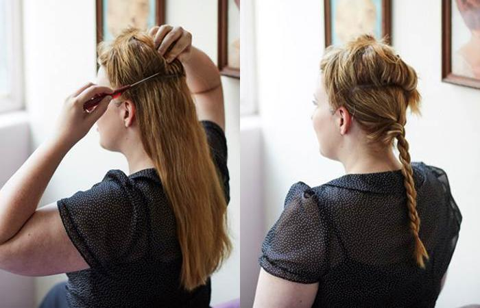 how to fake short hair