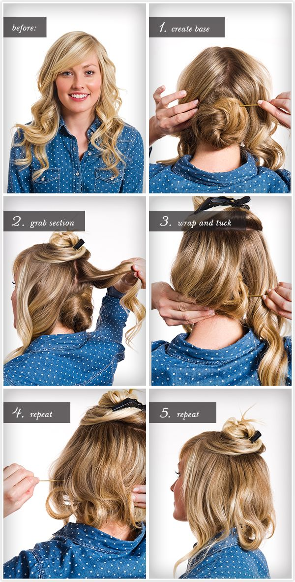 make long hair look short