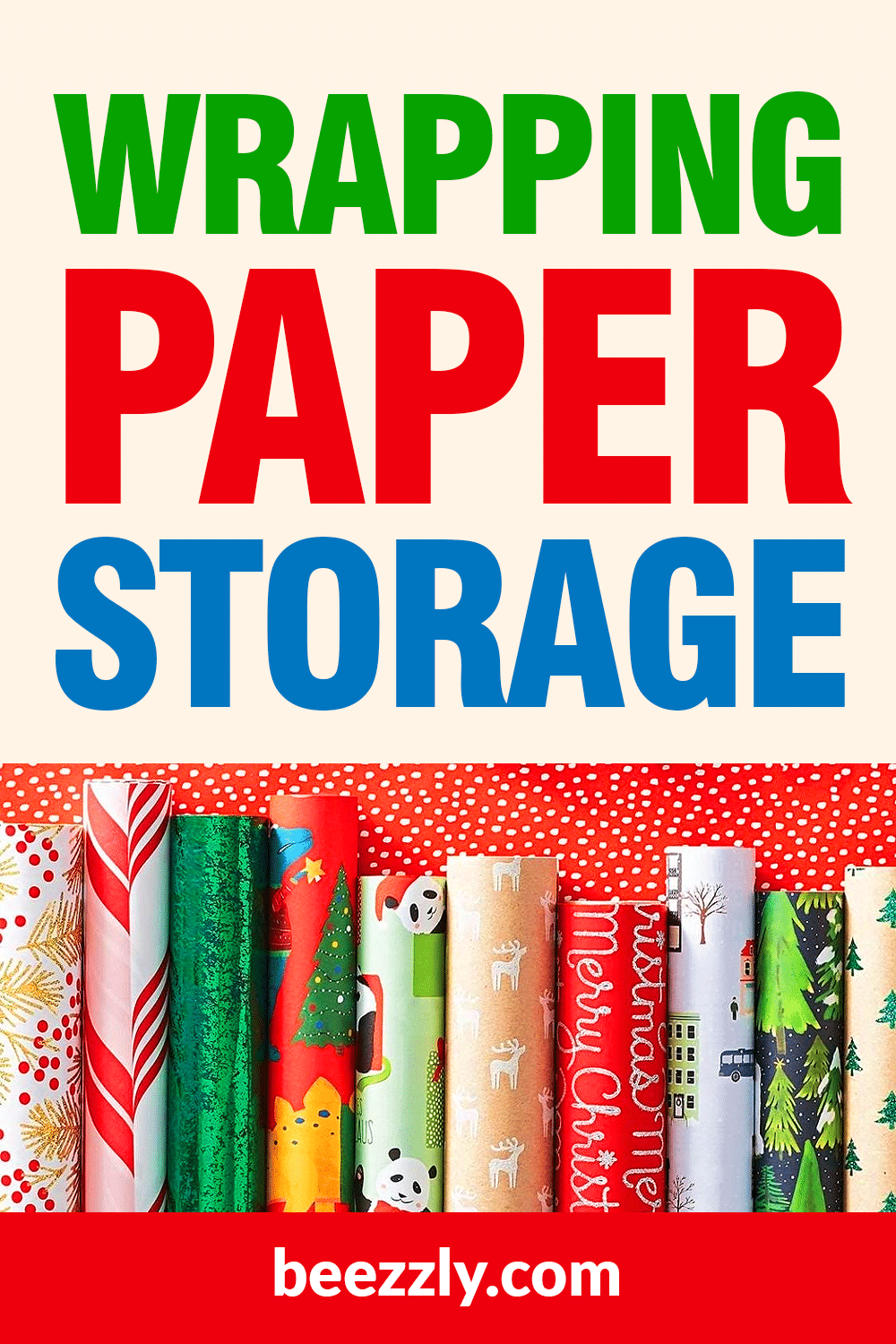 wrapping paper storage