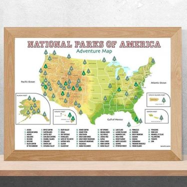USA National Parks Scratch Off Poster