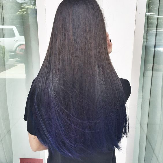 double process during hair treatment
