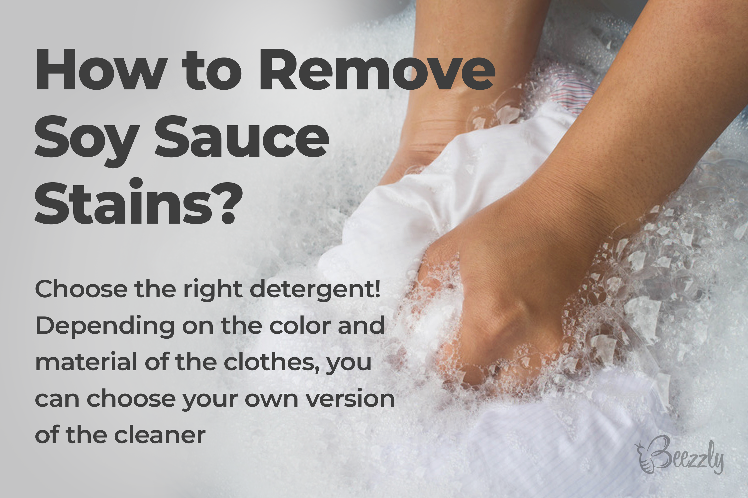 How to remove soy sauce stains