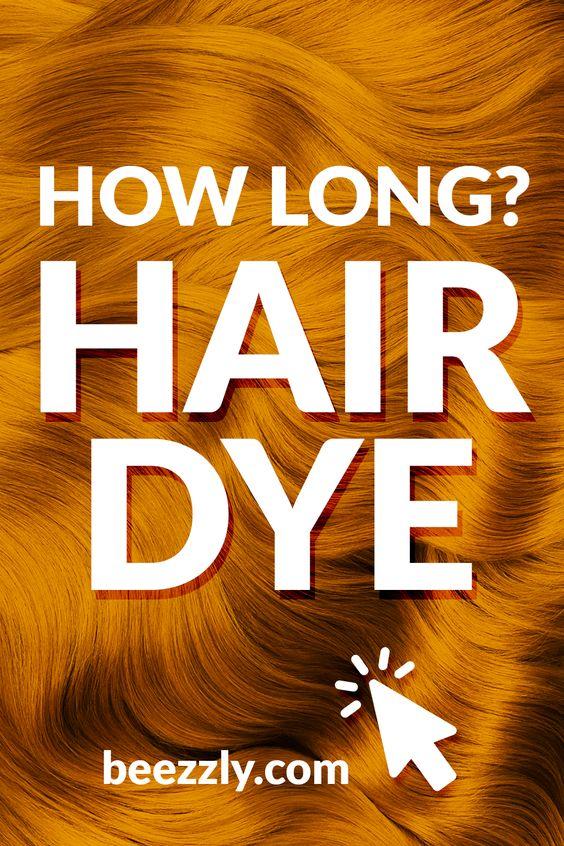 how long hair dye
