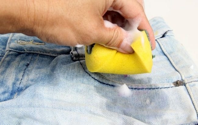 how to get melted chapstick out of clothes