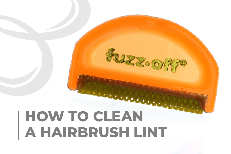 How to clean a hairbrush lint