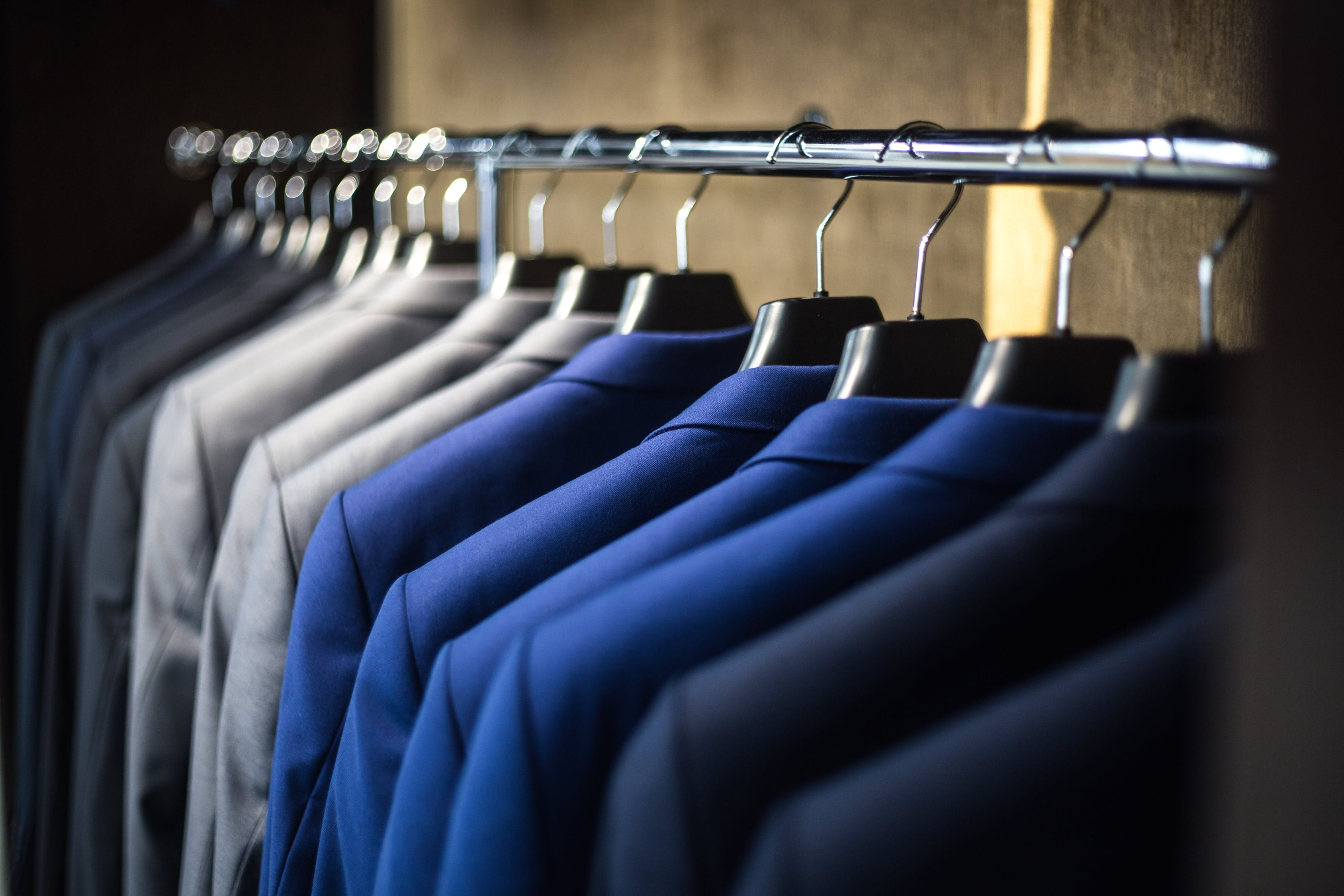 suits dry cleaned