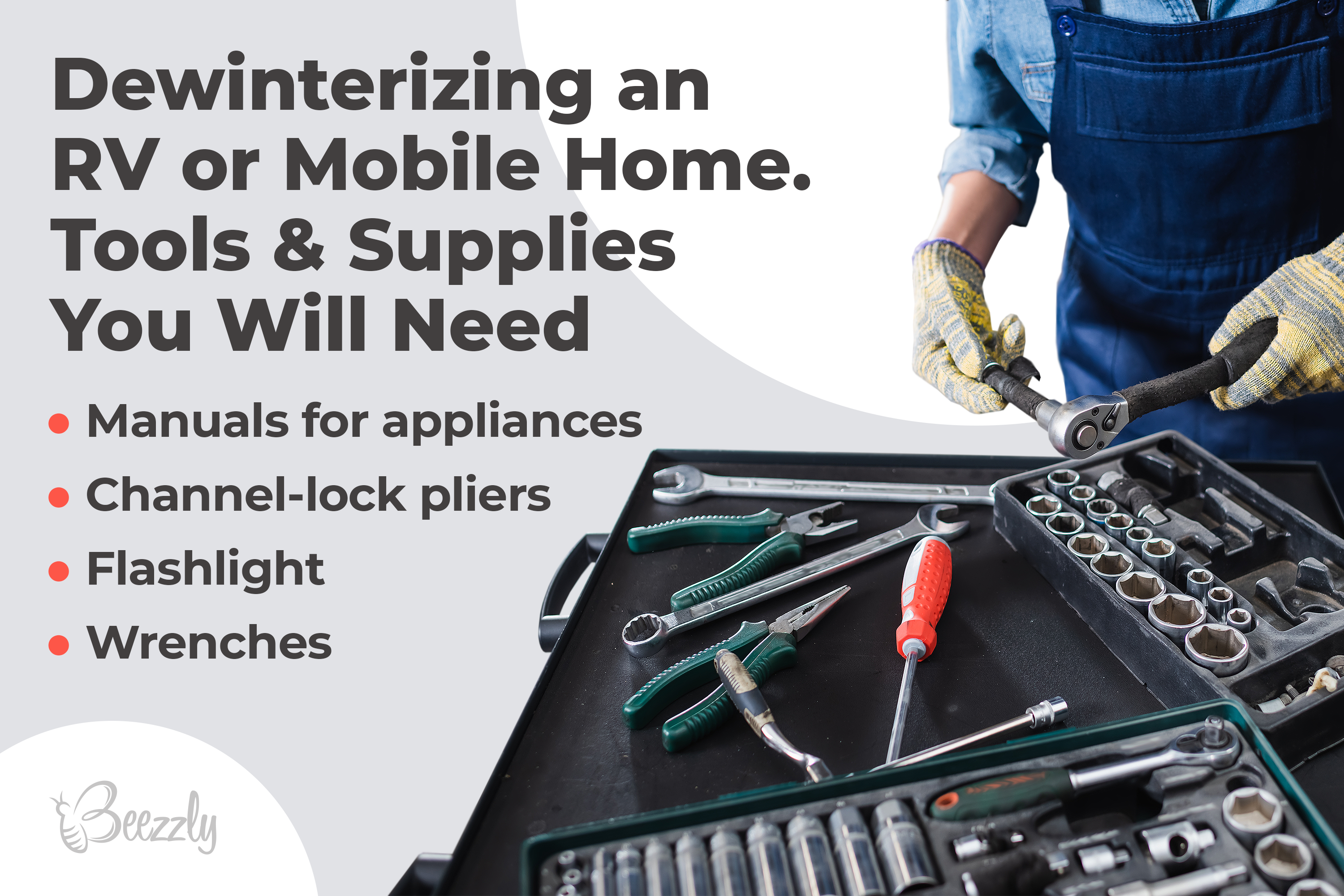 Dewinterizing an RV or Mobile Home. Tools & Supplies You Will Need