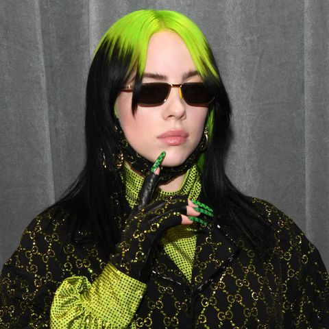 green hair billie
