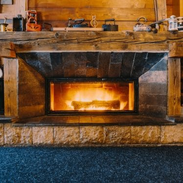 how big should pilot light be on gas fireplace