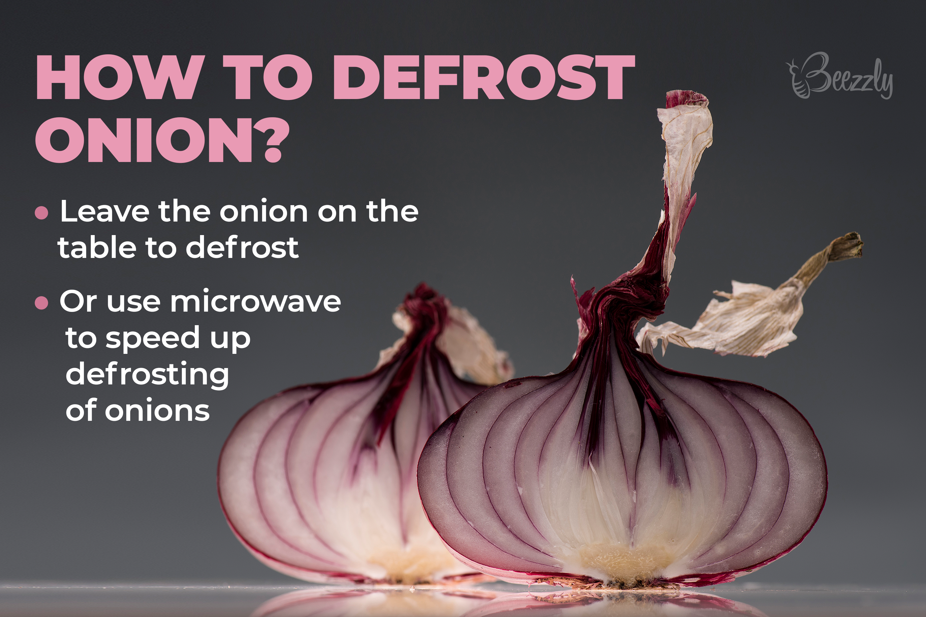 How to defrost onion