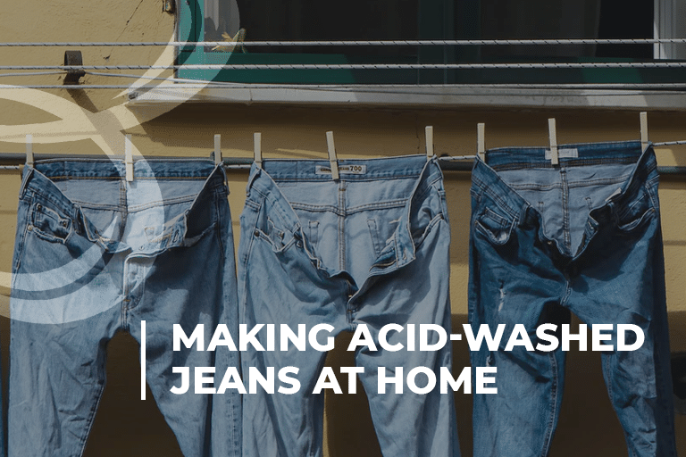 Making Acid-Washed Jeans At Home