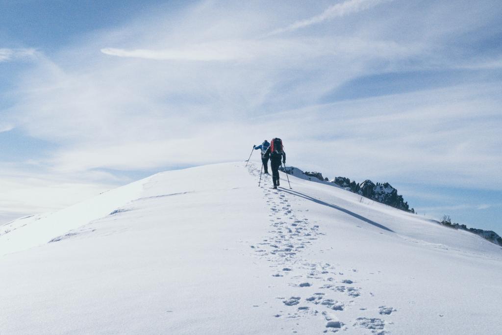 hiking Everest