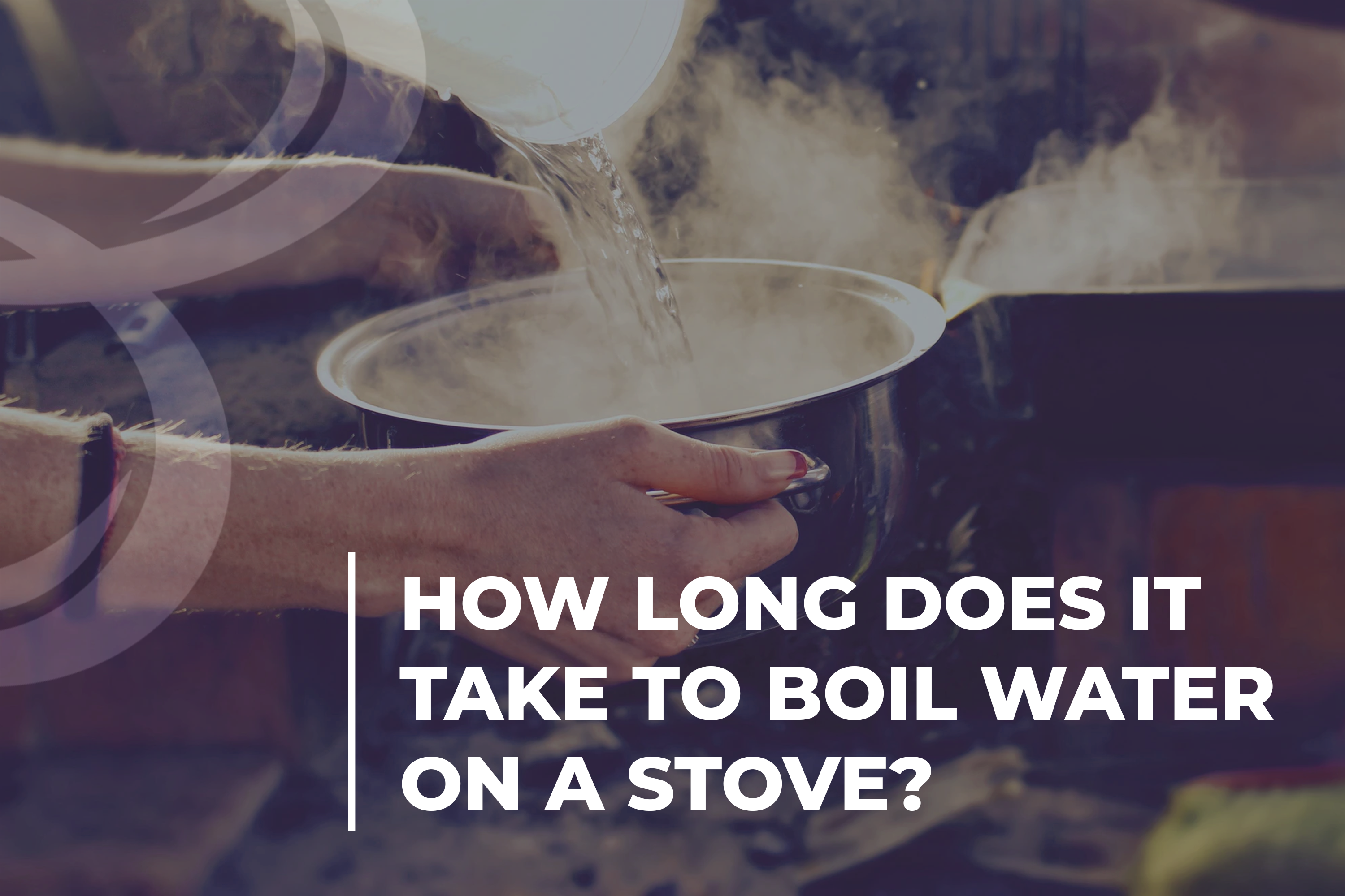 How long does it take to boil water on a stove