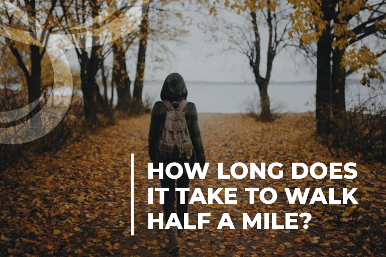 How long does it take to walk half a mile