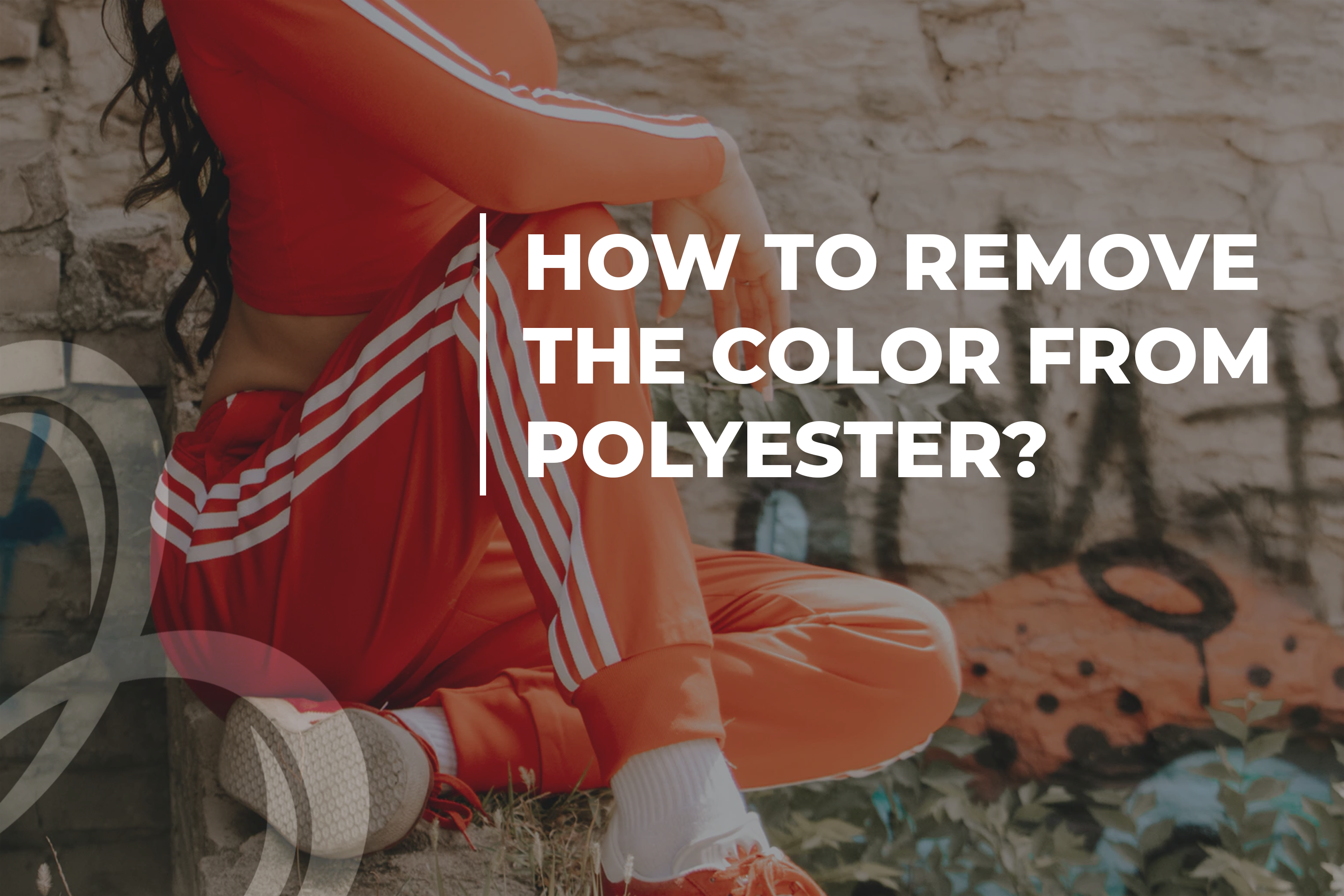 How to remove the color from polyester