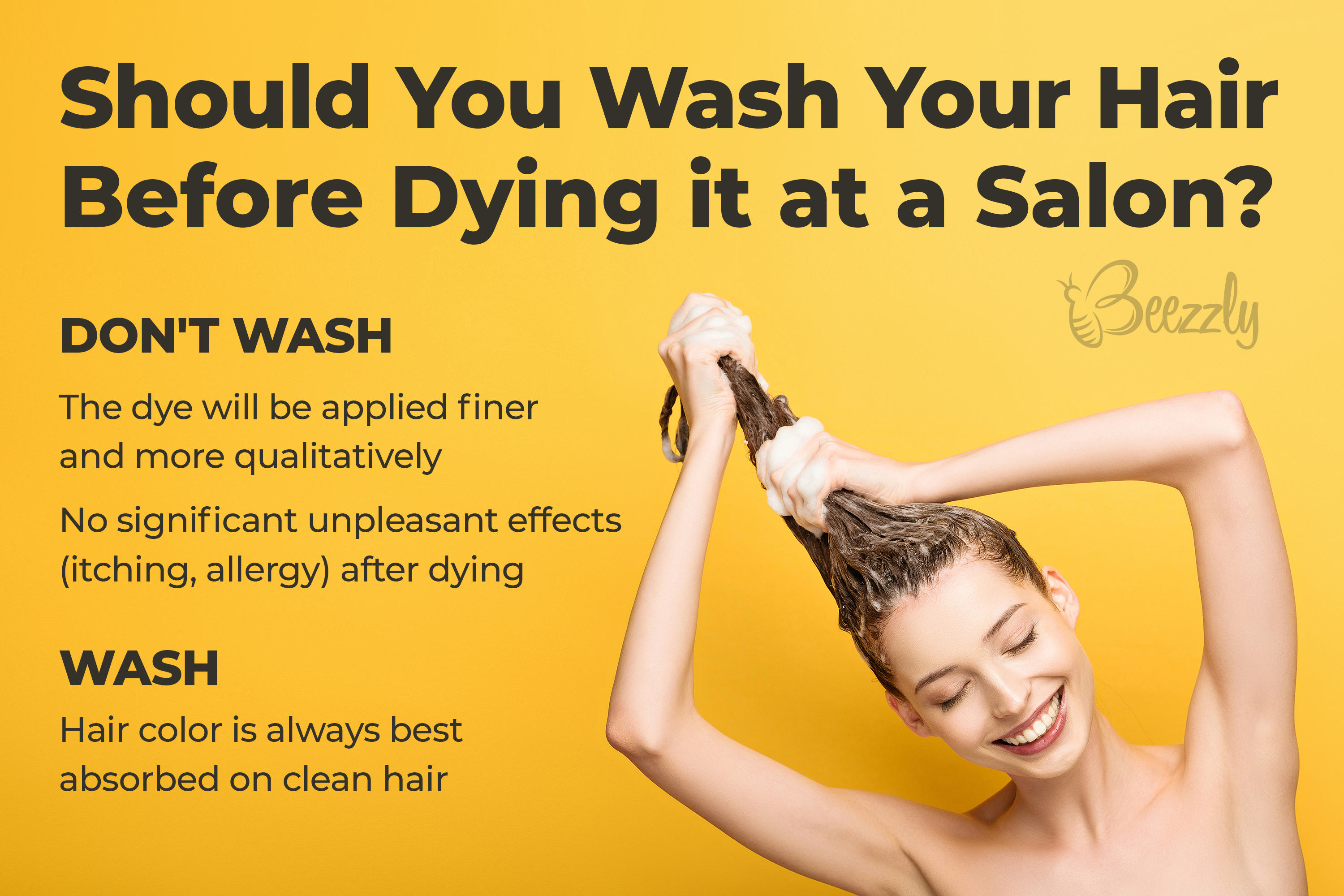 should you wash your hair before dying it at a salon