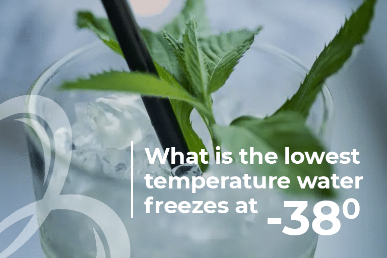 What is the lowest temperature water freezes at