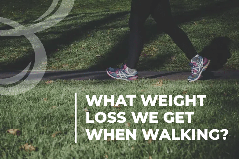 What weight loss we get when walking
