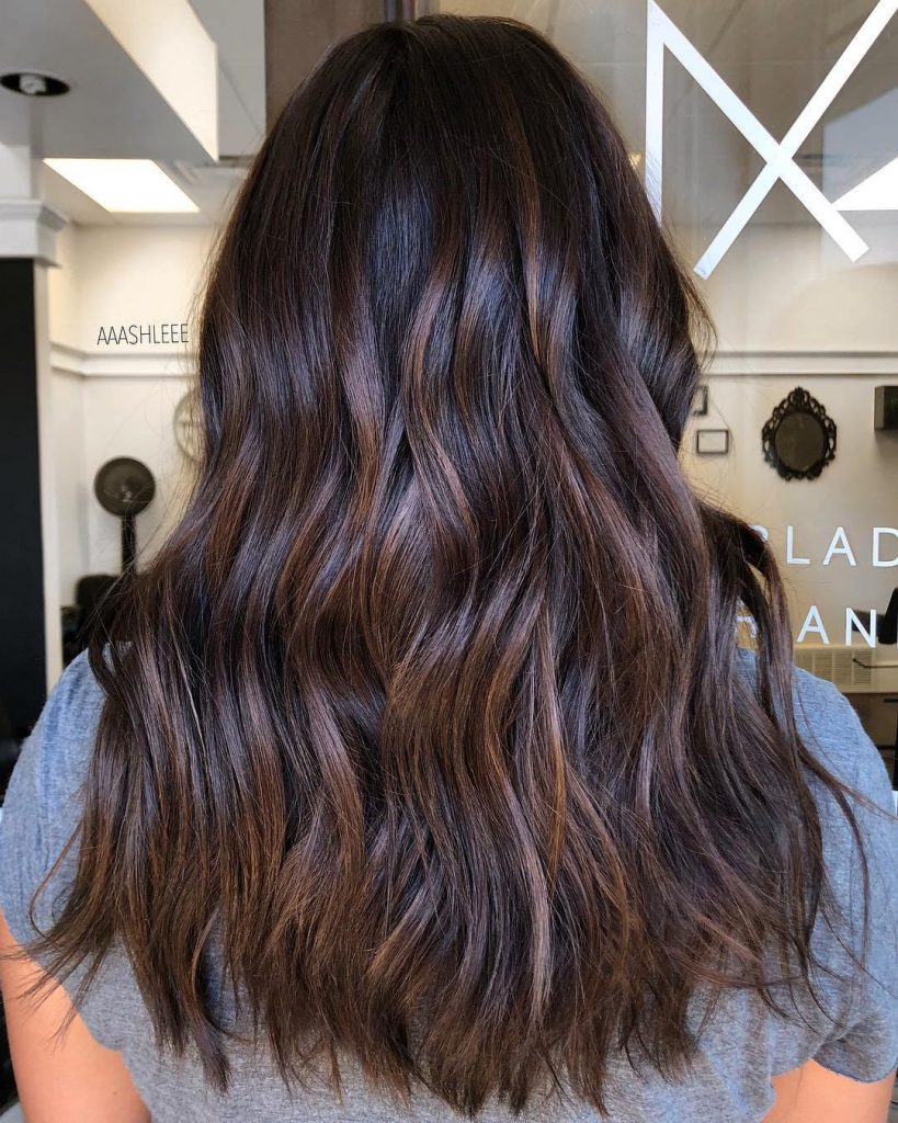 Barely there chocolate highlights