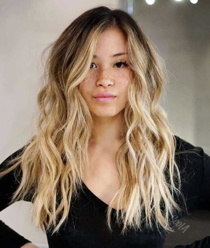 Blonde Ombre Hair In Light Caramel