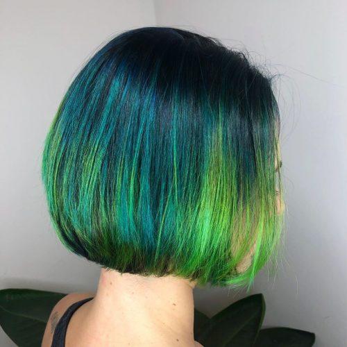 Blue Green Balayage