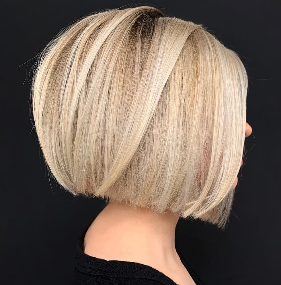 Butter Blonde Bob Hair