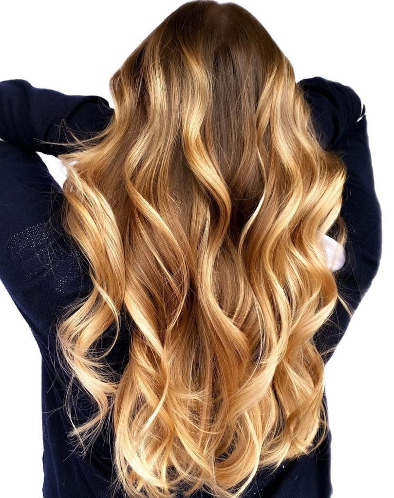 Caramel Balayage Blonde Hair
