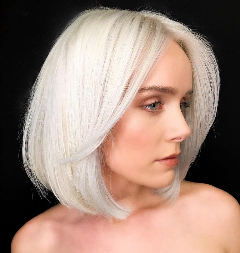 Platinum Bright Blonde Hair