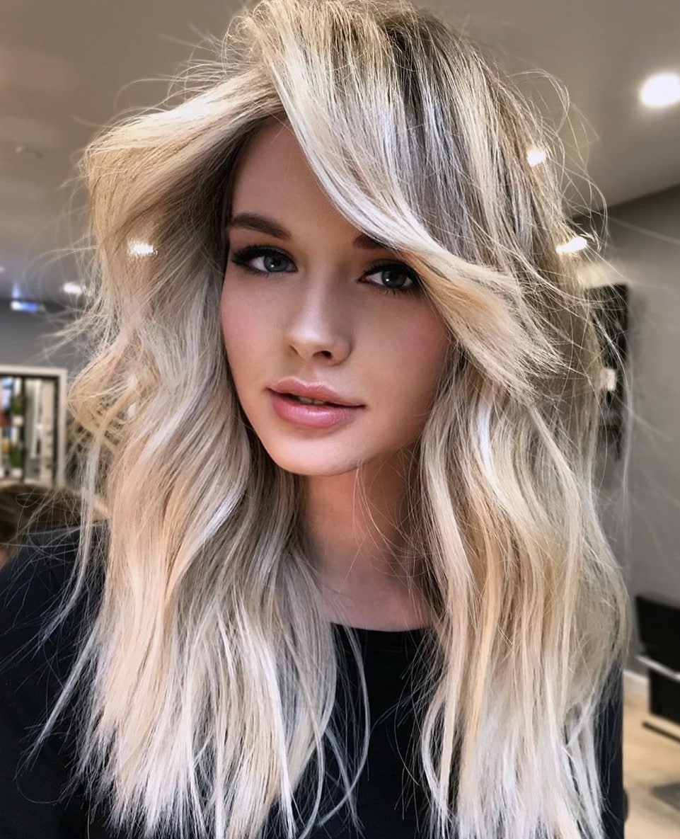 Silver Blonde Hair For Medium Length