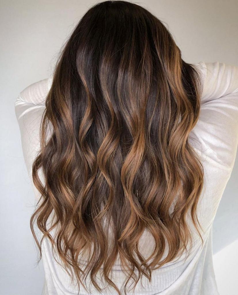 Walnut brown hair color shade