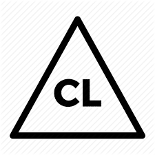 A white triangular with CL letters inside