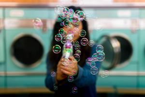 Liquid Detergent In Washing Machine