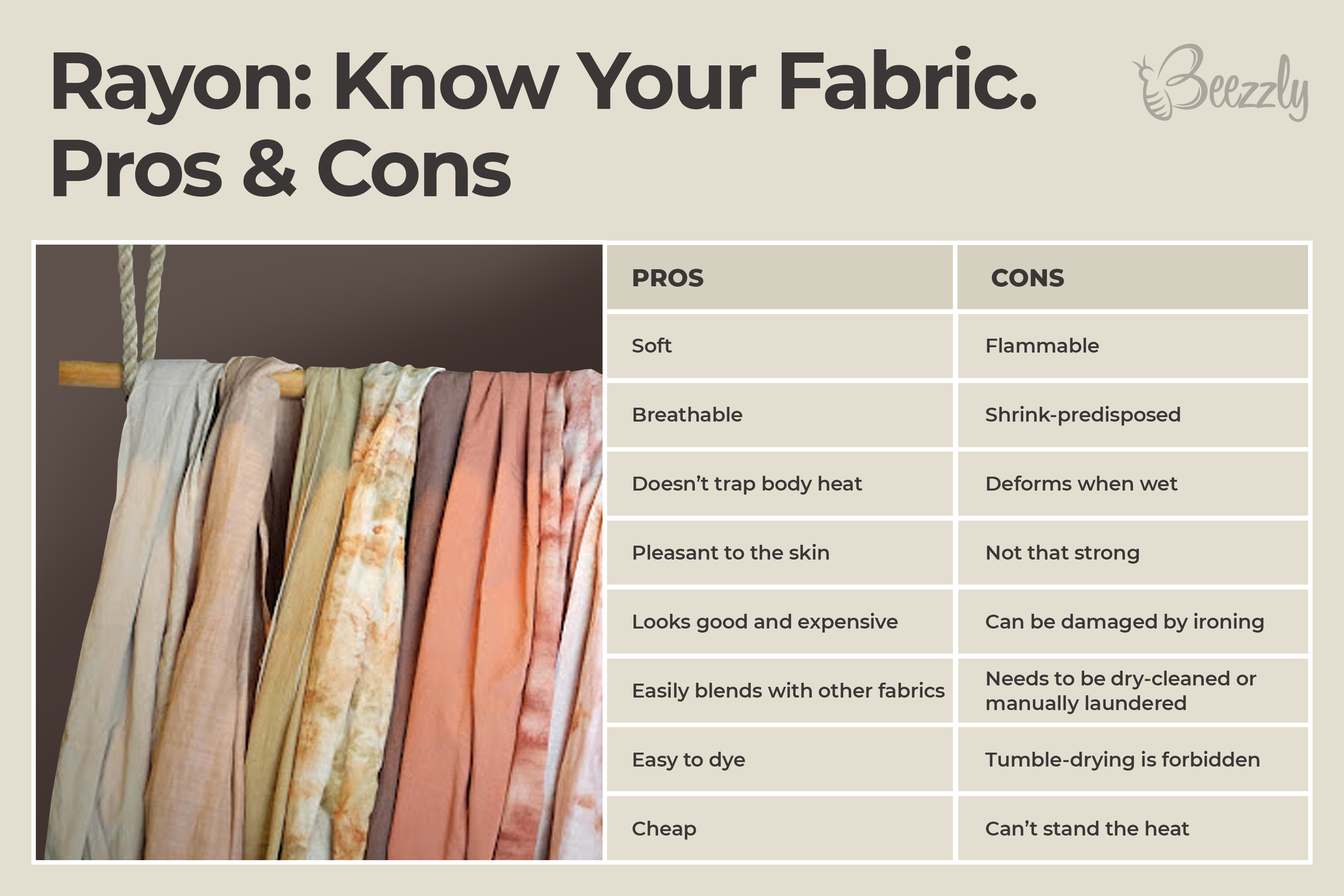 What is rayon. pros and cons