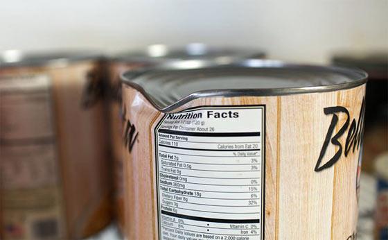 damaged tuna can
