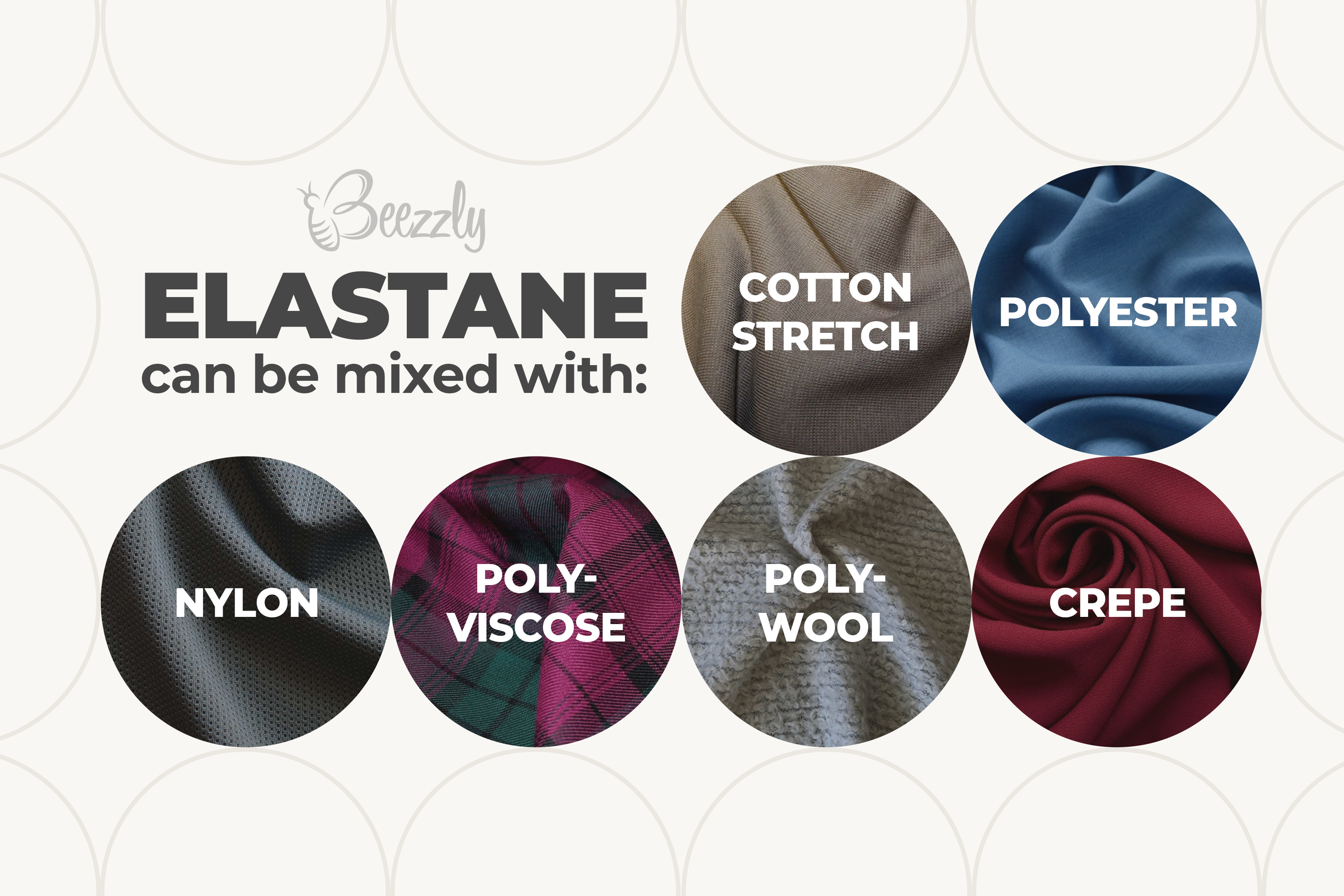 elastane can be mixed with